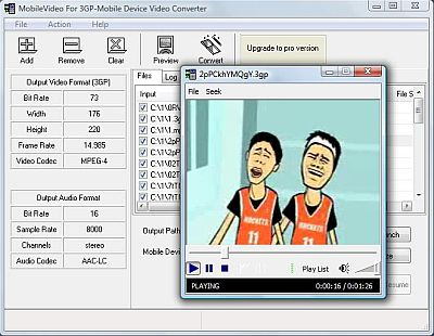 Screenshot of Mobilevideo For 3GP